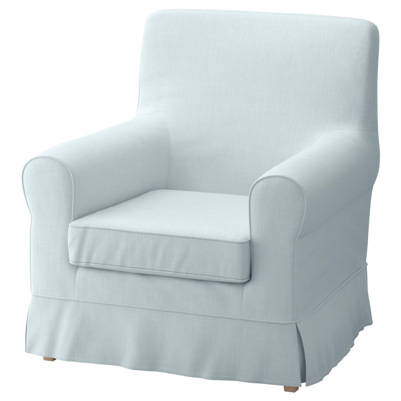 Jennylund housse de fauteuil nordvalla bleu clair ikea for Housse fauteuil ikea