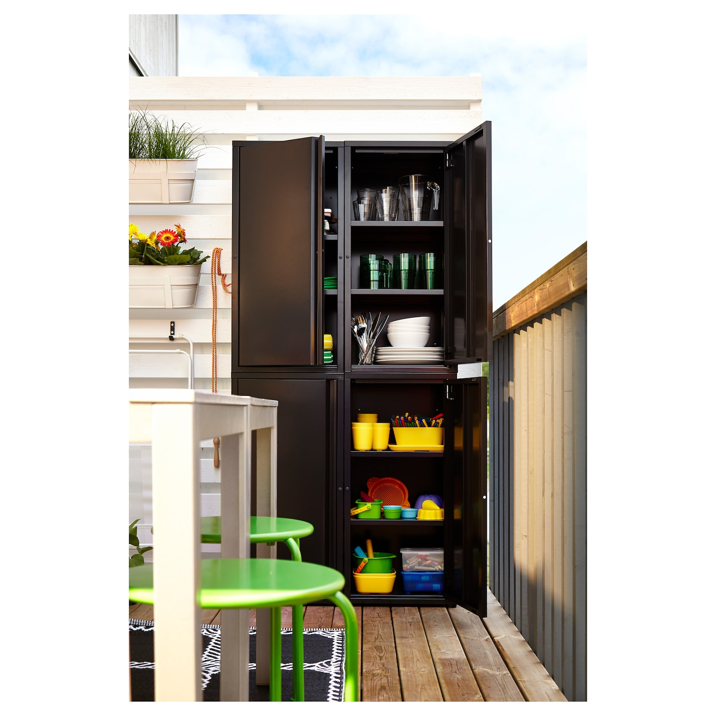 josef l ment rangement int ext rieur gris fonc 40x35x86 cm ikea. Black Bedroom Furniture Sets. Home Design Ideas
