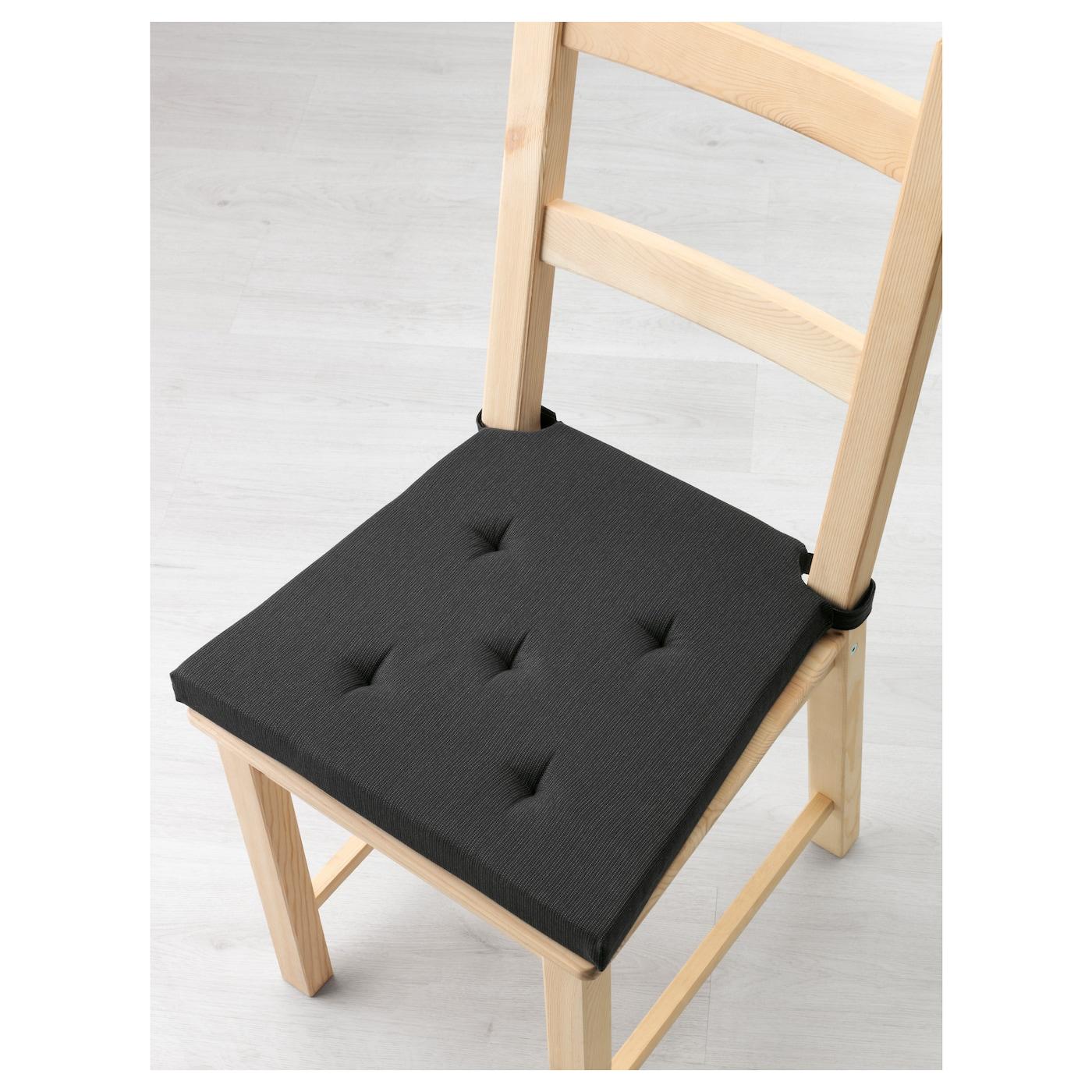 justina carreau de chaise gris noir 35 42x40x4 0 cm ikea. Black Bedroom Furniture Sets. Home Design Ideas