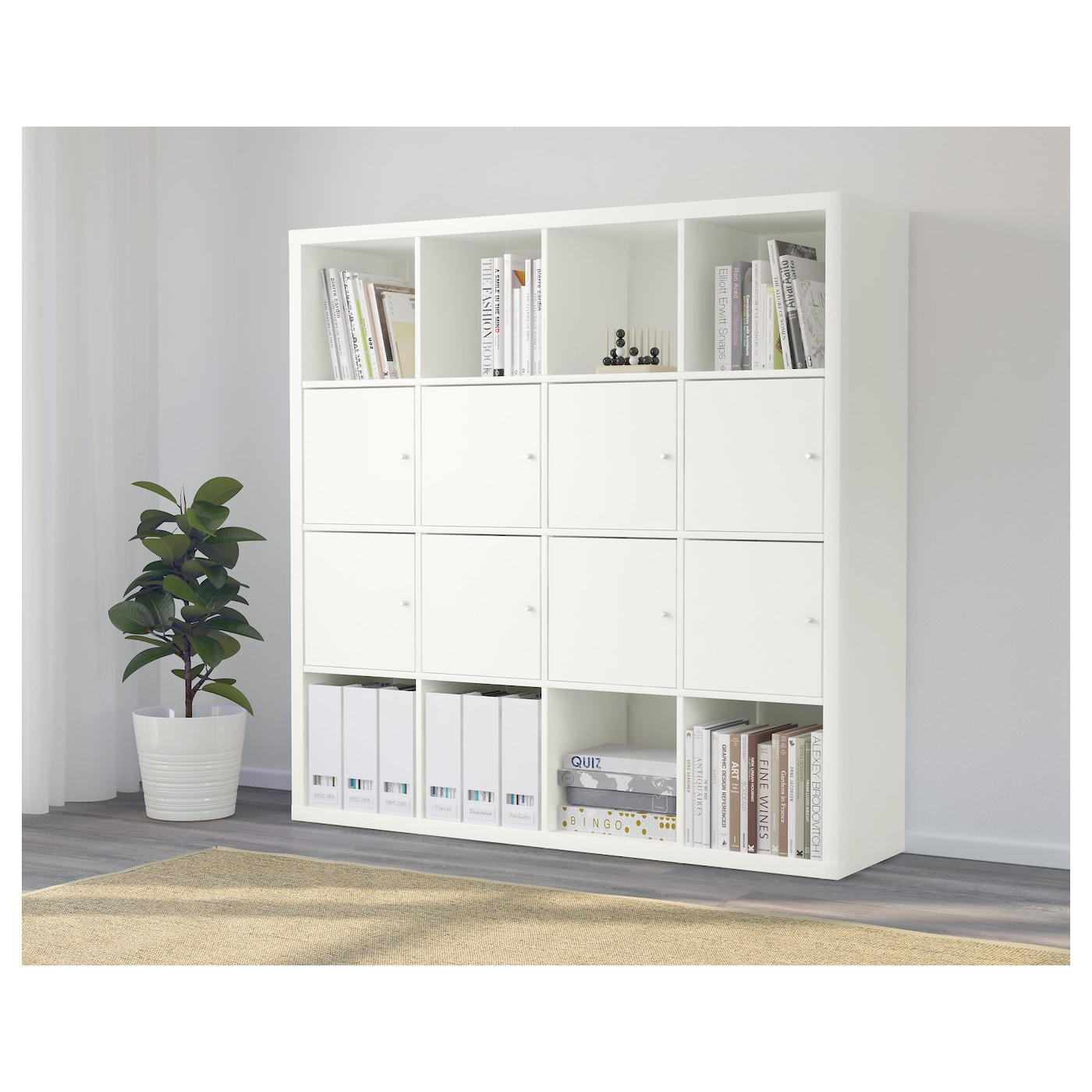 kallax tag re avec 8 accessoires blanc 147x147 cm ikea. Black Bedroom Furniture Sets. Home Design Ideas
