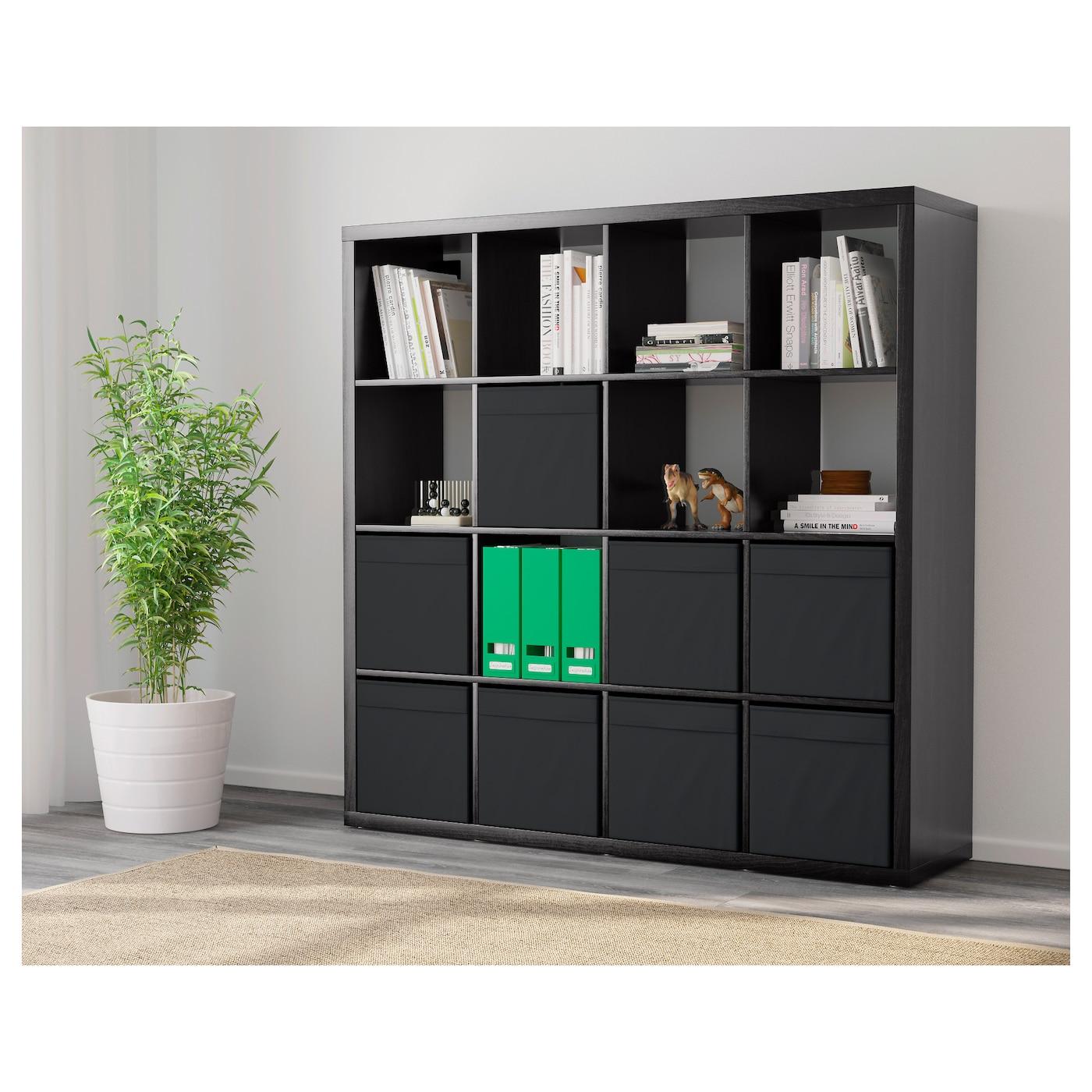 kallax tag re avec 8 accessoires brun noir 147x147 cm ikea. Black Bedroom Furniture Sets. Home Design Ideas