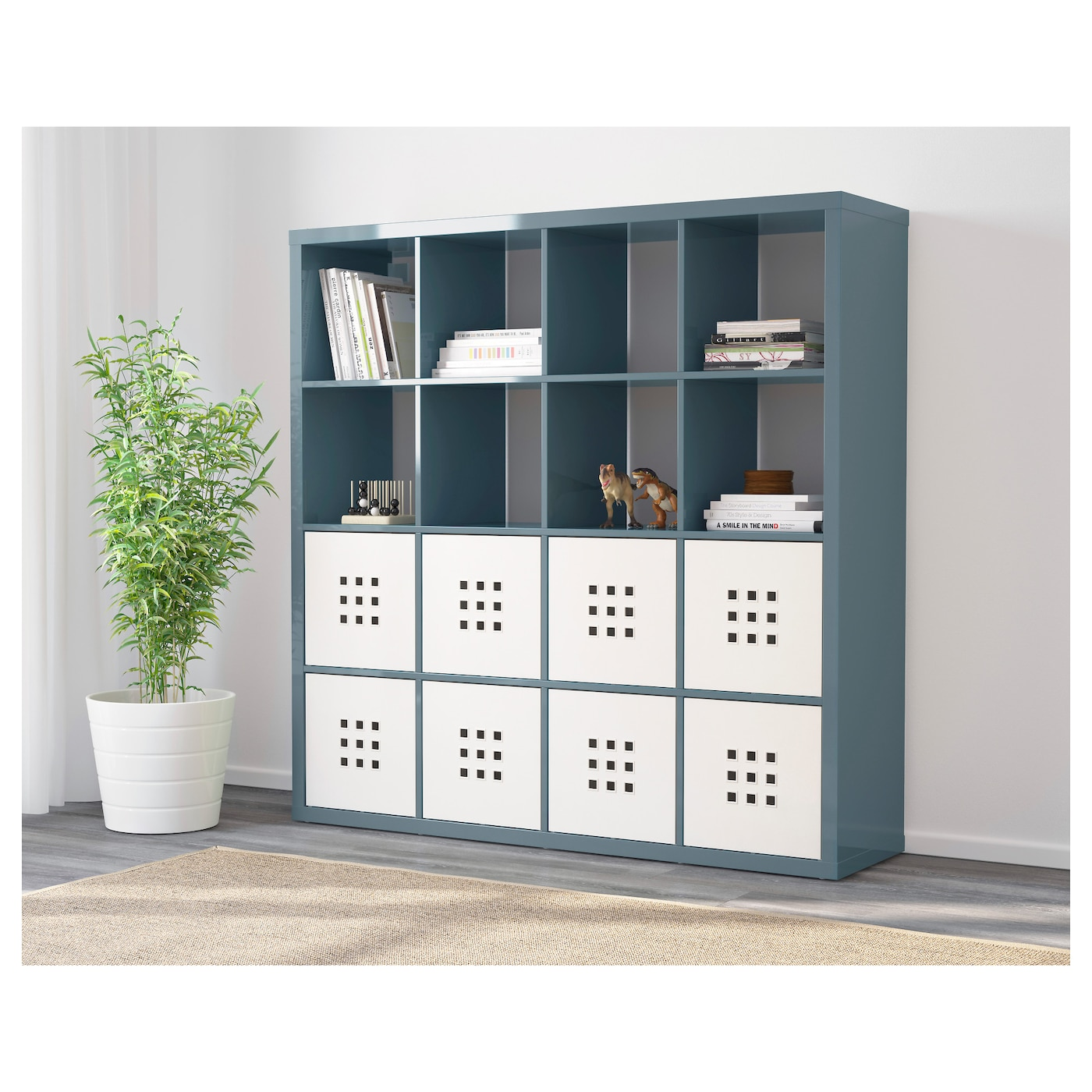 kallax tag re brillant gris turquoise 147x147 cm ikea. Black Bedroom Furniture Sets. Home Design Ideas