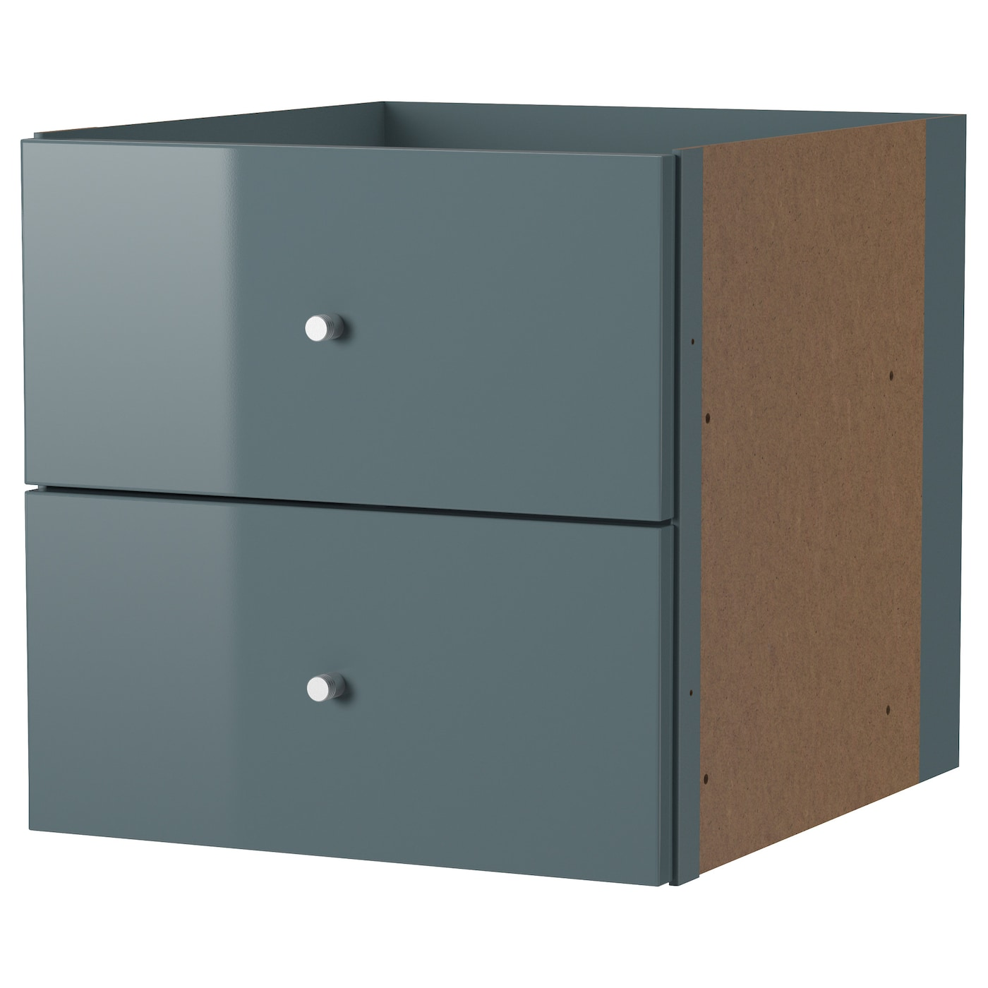 kallax bloc 2 tiroirs brillant gris turquoise 33x33 cm ikea. Black Bedroom Furniture Sets. Home Design Ideas