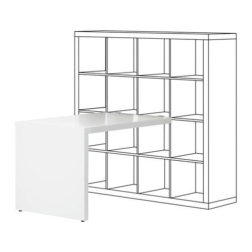 kallax bureau blanc 115 x 76 cm ikea. Black Bedroom Furniture Sets. Home Design Ideas