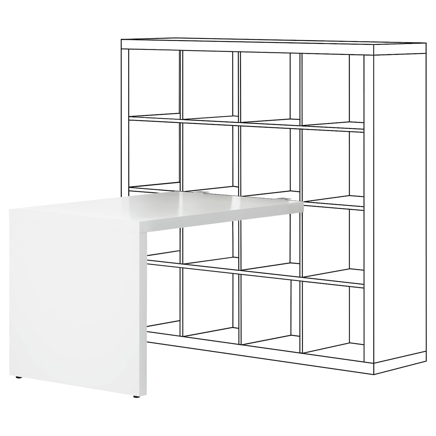kallax bureau blanc 115x76 cm ikea. Black Bedroom Furniture Sets. Home Design Ideas