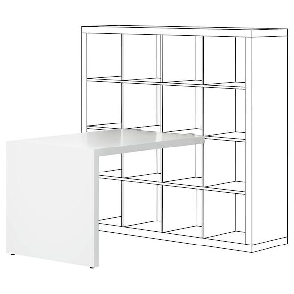 KALLAX Bureau, blanc, 115x76 cm