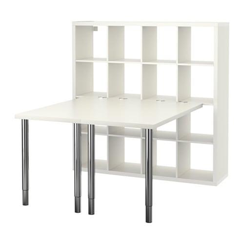 kallax combinaison bureau blanc ikea. Black Bedroom Furniture Sets. Home Design Ideas