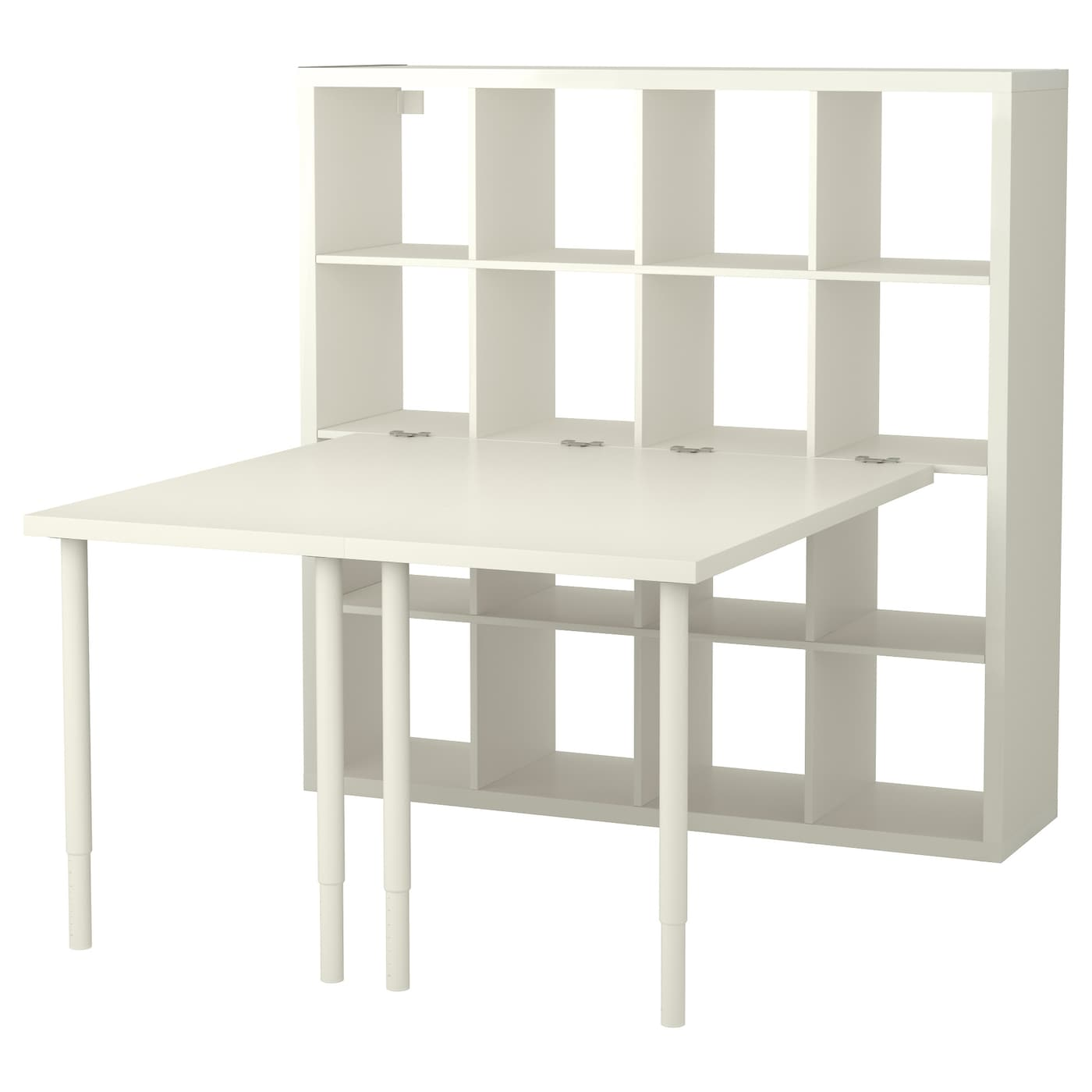 kallax combinaison bureau blanc 147x147 cm ikea. Black Bedroom Furniture Sets. Home Design Ideas