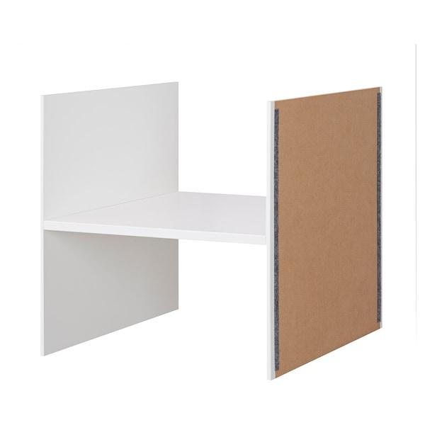 KALLAX Insert avec 1 étagère, blanc, 33x33 cm