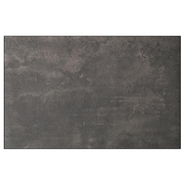 KALLVIKEN Porte/face de tiroir, gris foncé imitation ciment, 60x38 cm