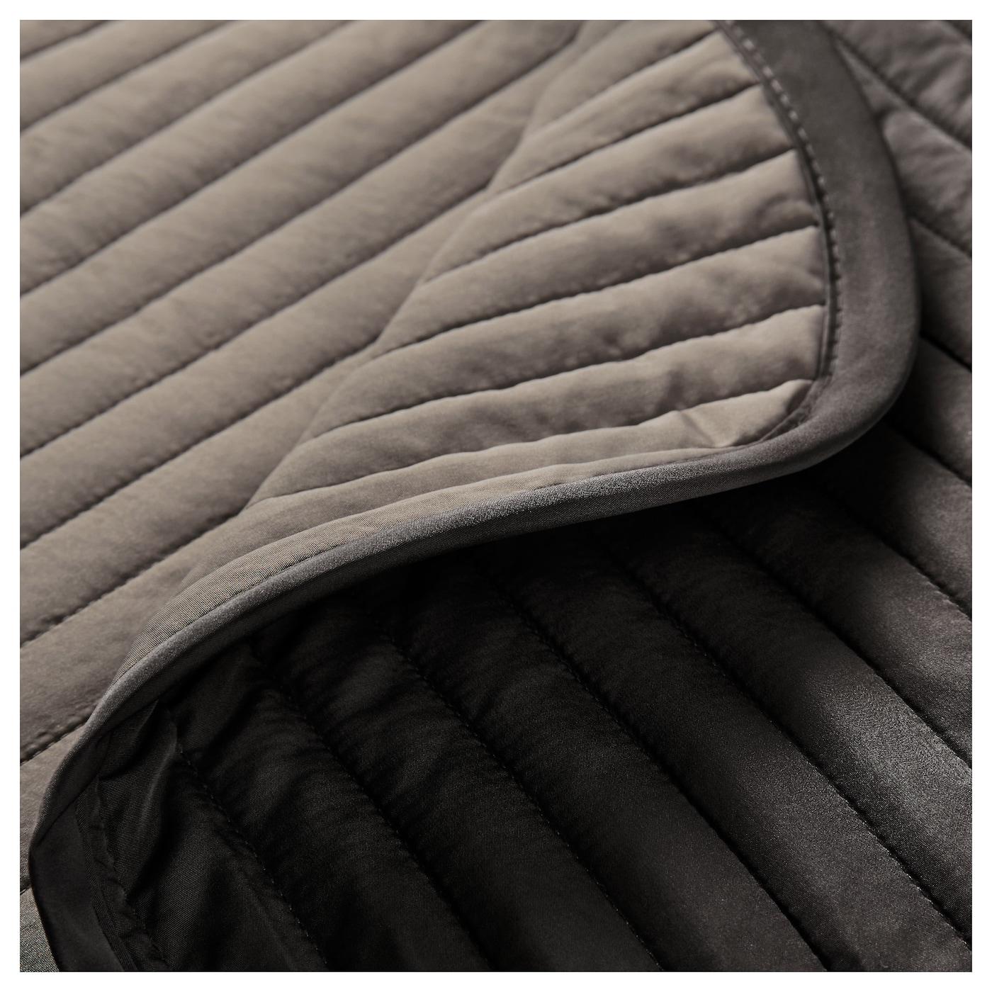 karit couvre lit et 2 housses coussin brun 260x280 40x65 cm ikea. Black Bedroom Furniture Sets. Home Design Ideas