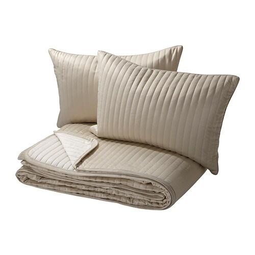 karit couvre lit et 2 housses coussin 260x280 40x65 cm. Black Bedroom Furniture Sets. Home Design Ideas