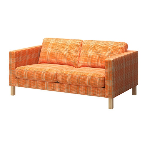Karlstad housse de canap 2pla husie orange ikea for Housses de canape ikea