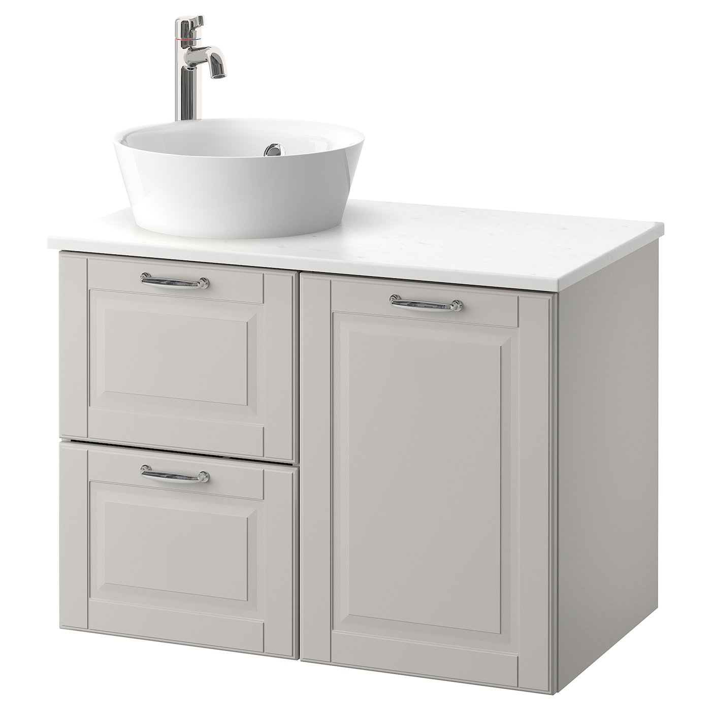 kattevik godmorgon tolken l ment lavabo avec lavabo poser kasj n gris clair marbr 82x49x75. Black Bedroom Furniture Sets. Home Design Ideas