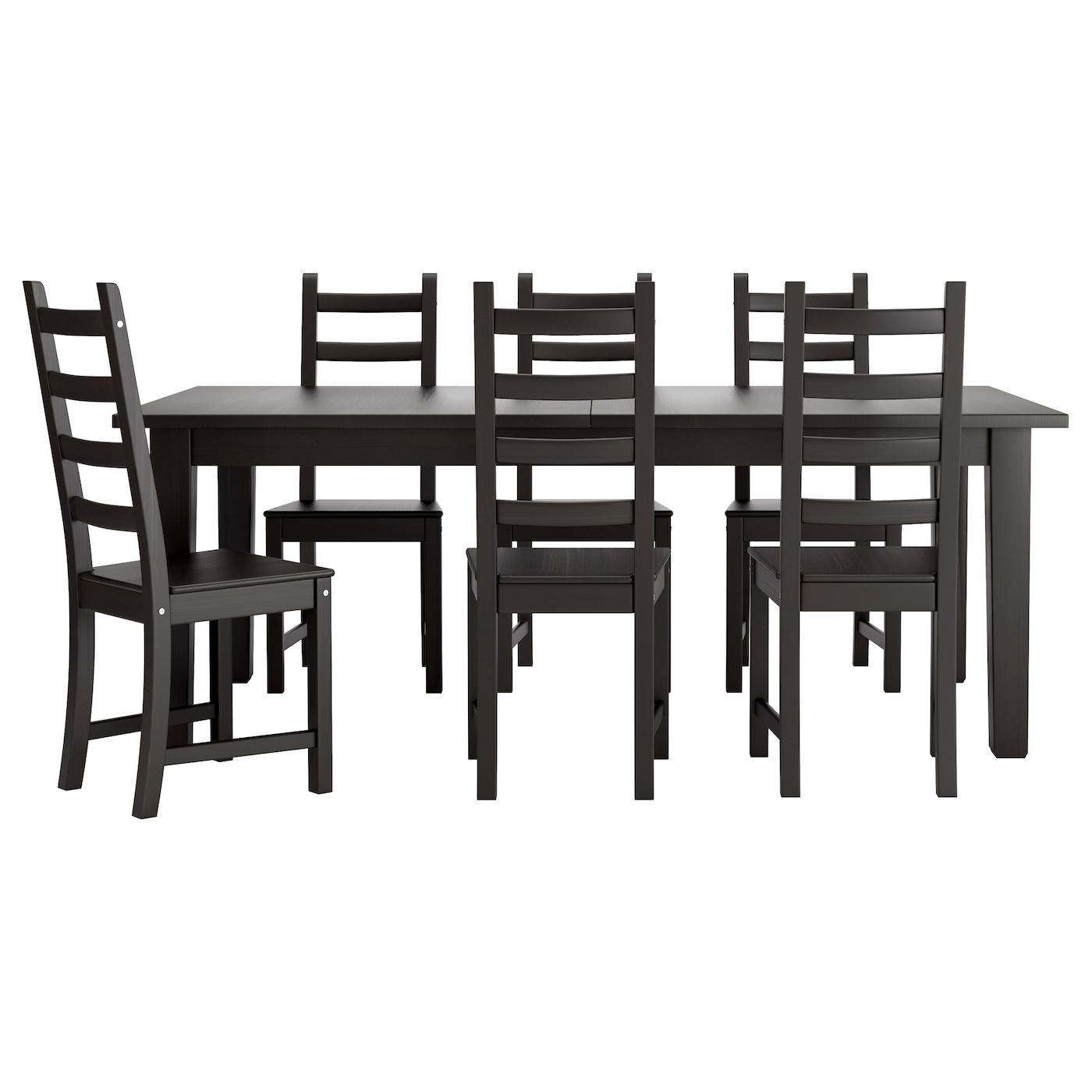 kaustby storn s table et 6 chaises brun noir 201 cm ikea. Black Bedroom Furniture Sets. Home Design Ideas