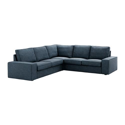 kivik canap d 39 angle 4 places hillared bleu fonc ikea. Black Bedroom Furniture Sets. Home Design Ideas