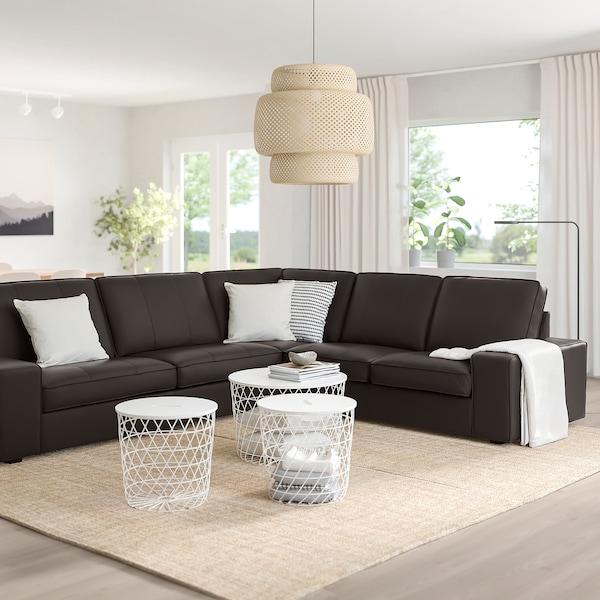 KIVIK Canapé d'angle, 5 places, Grann/Bomstad brun foncé