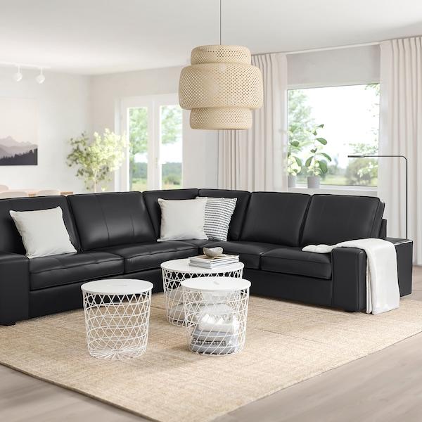 KIVIK Canapé d'angle, 5 places, Grann/Bomstad noir