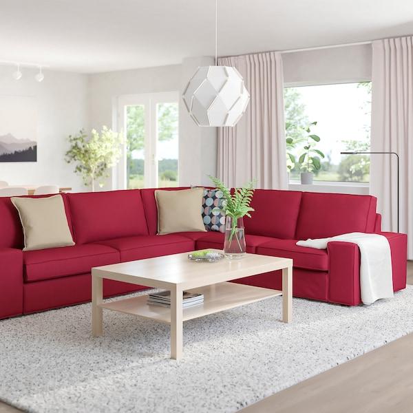 KIVIK Canapé d'angle, 5 places, Orrsta rouge