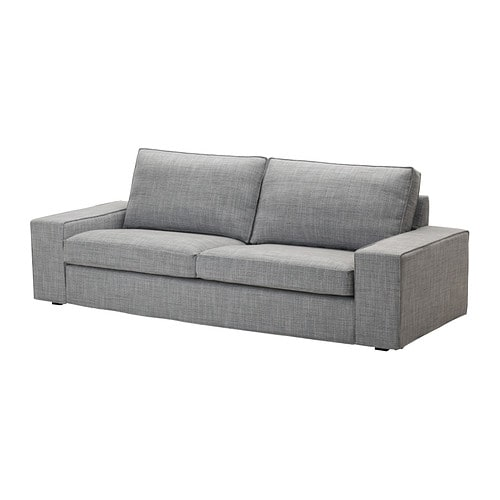Kivik canap 3 places isunda gris ikea for Housse de canape gris clair