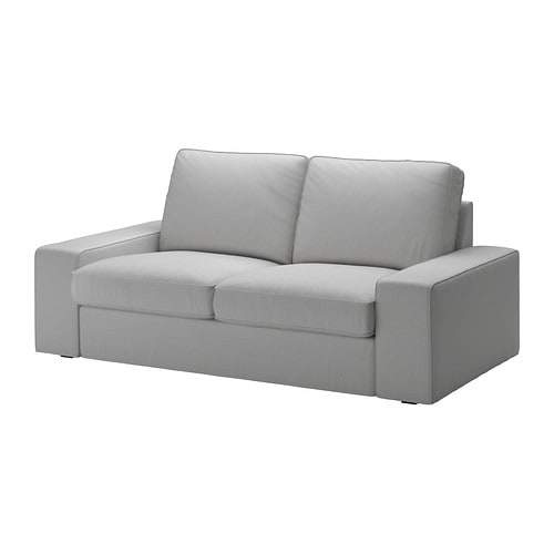Kivik canap 2 places orrsta gris clair ikea for Housse kivik