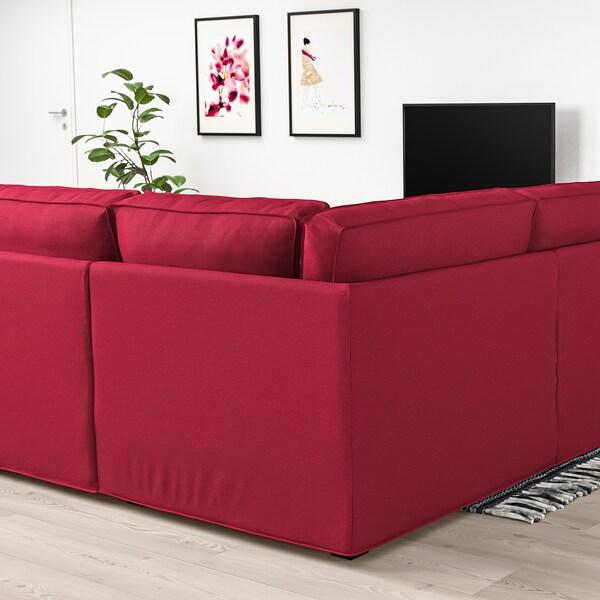 KIVIK canapé en U, 6 places Orrsta rouge 368 cm 257 cm 83 cm 24 cm 60 cm 45 cm
