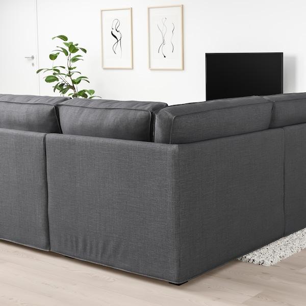 KIVIK canapé en U, 6 places Skiftebo gris foncé 368 cm 257 cm 83 cm 24 cm 60 cm 45 cm