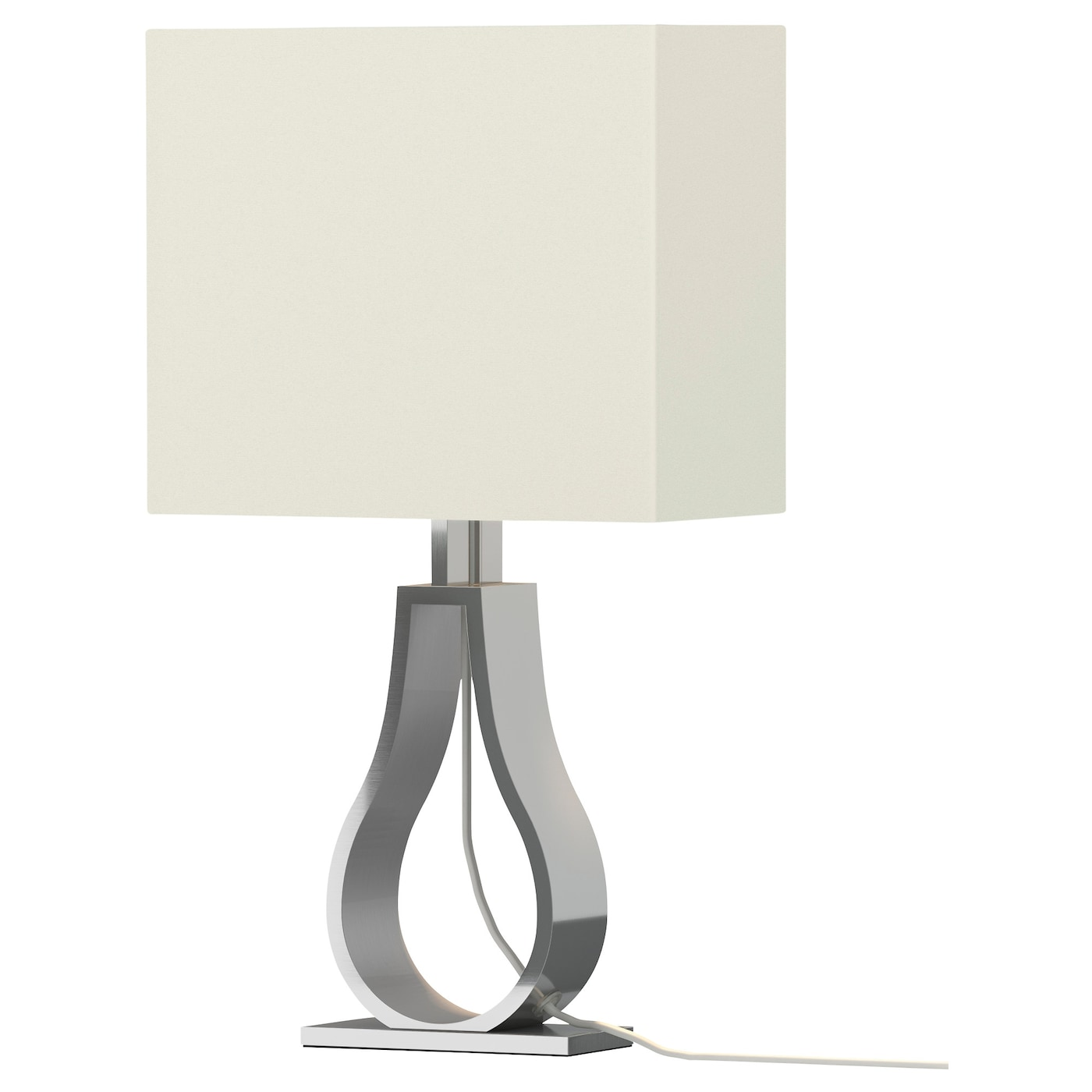 Klabb lampe de table blanc cass ikea for Lampe de table rona