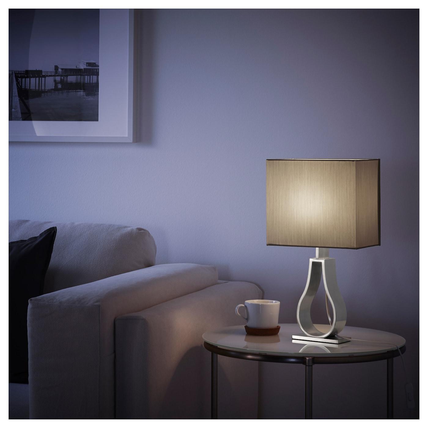klabb lampe de table brun clair ikea. Black Bedroom Furniture Sets. Home Design Ideas