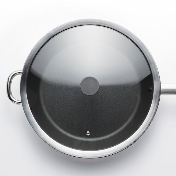 KLOCKREN Couvercle poêle, verre, 33 cm