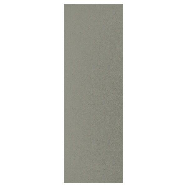 KLUBBUKT Porte avec charnières, gris vert, 40x120 cm