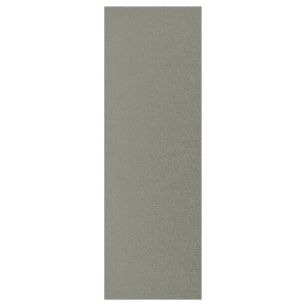 KLUBBUKT Porte avec charnières, gris vert, 60x180 cm