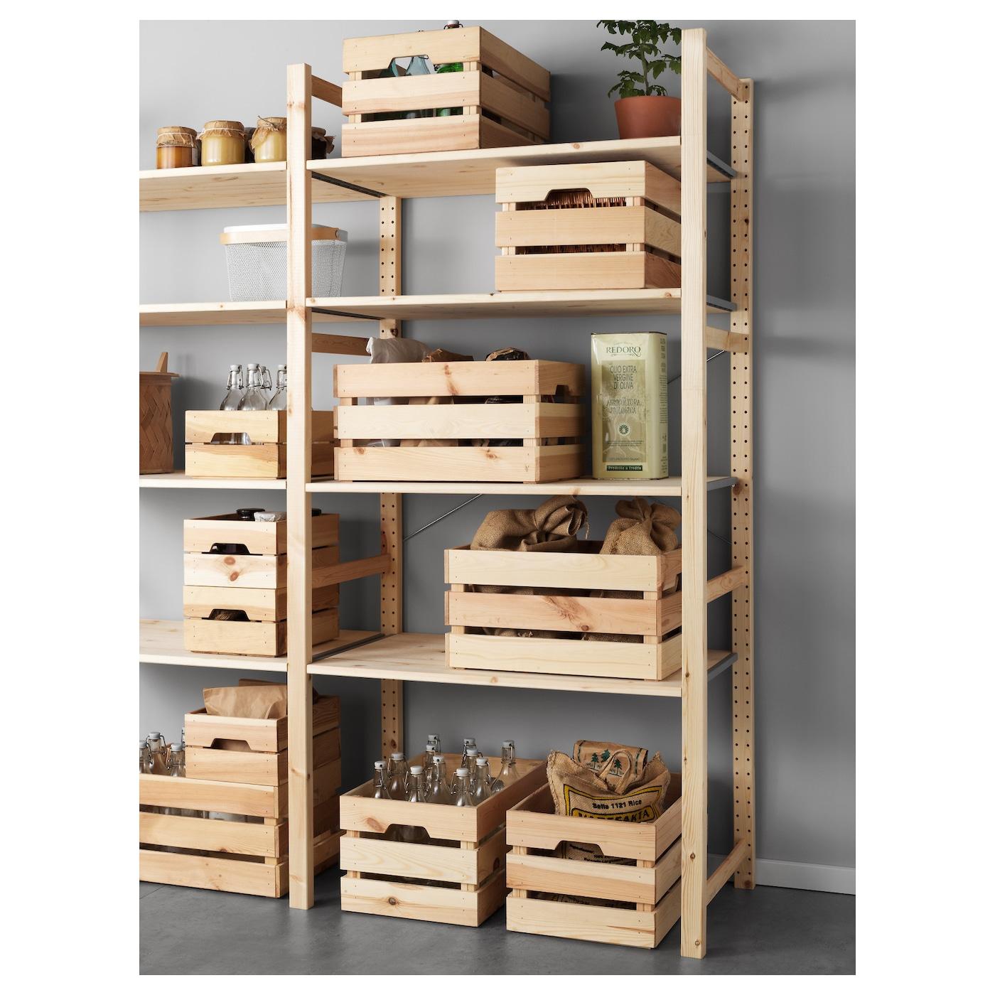 Knagglig Bo Te Pin 46x31x25 Cm Ikea # Etagere Cagette Bois