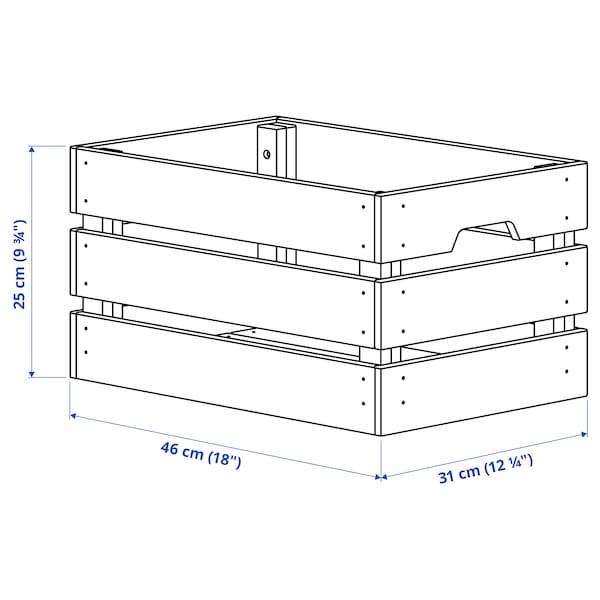 KNAGGLIG Boîte, pin, 46x31x25 cm