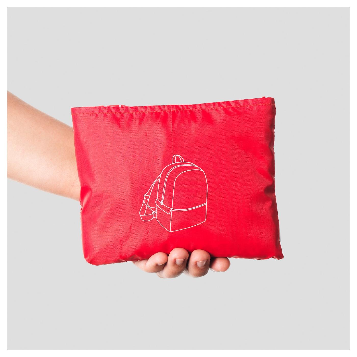 knalla sac dos rouge blanc ikea. Black Bedroom Furniture Sets. Home Design Ideas