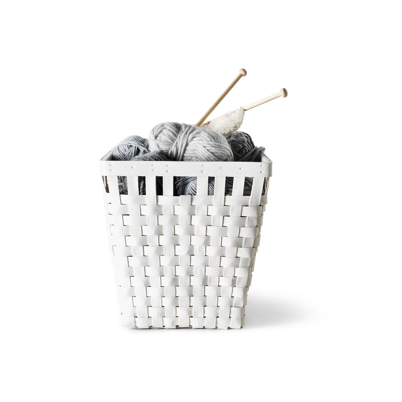 knarra panier blanc 38 x 29 x 30 cm ikea. Black Bedroom Furniture Sets. Home Design Ideas