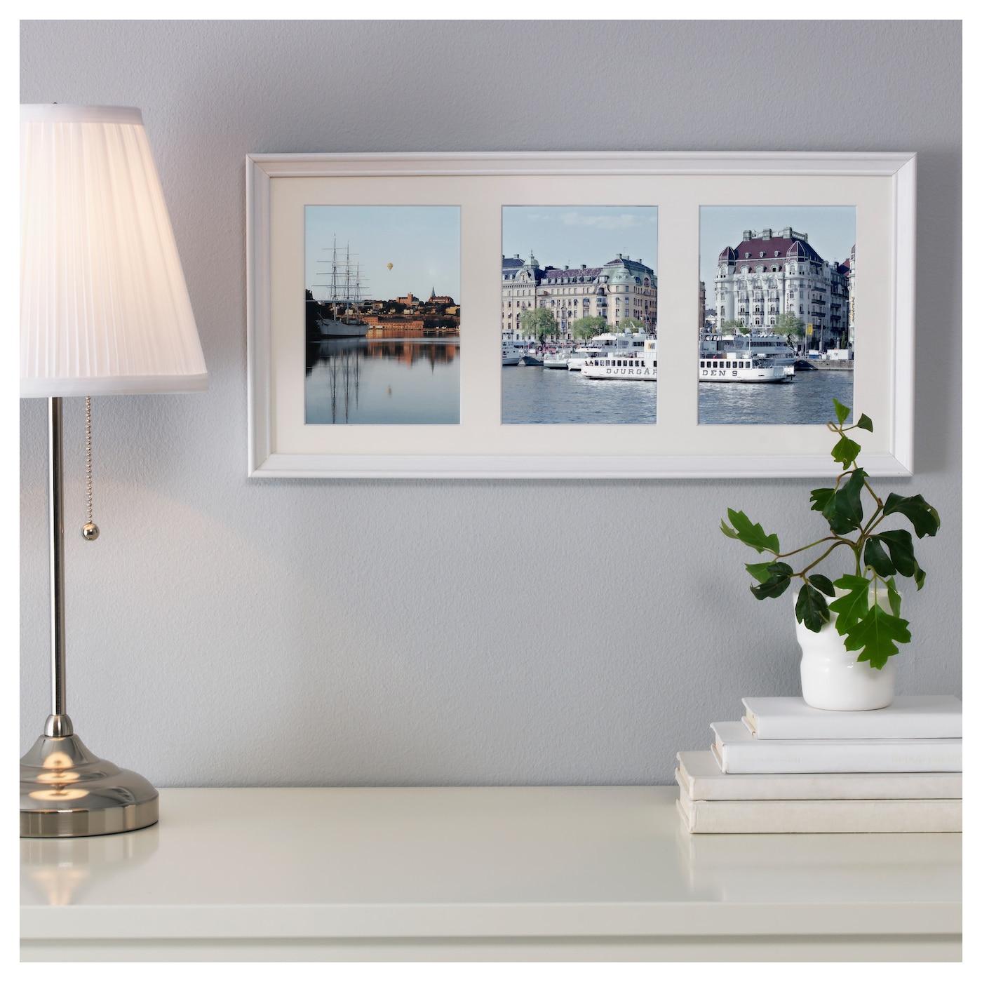 knopp ng cadre pour 3 photos teint blanc 50x23 cm ikea. Black Bedroom Furniture Sets. Home Design Ideas
