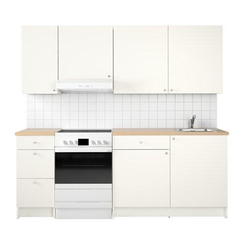 Knoxhult cuisine blanc 220x61x220 cm ikea - Cuisine ikea blanc mat ...