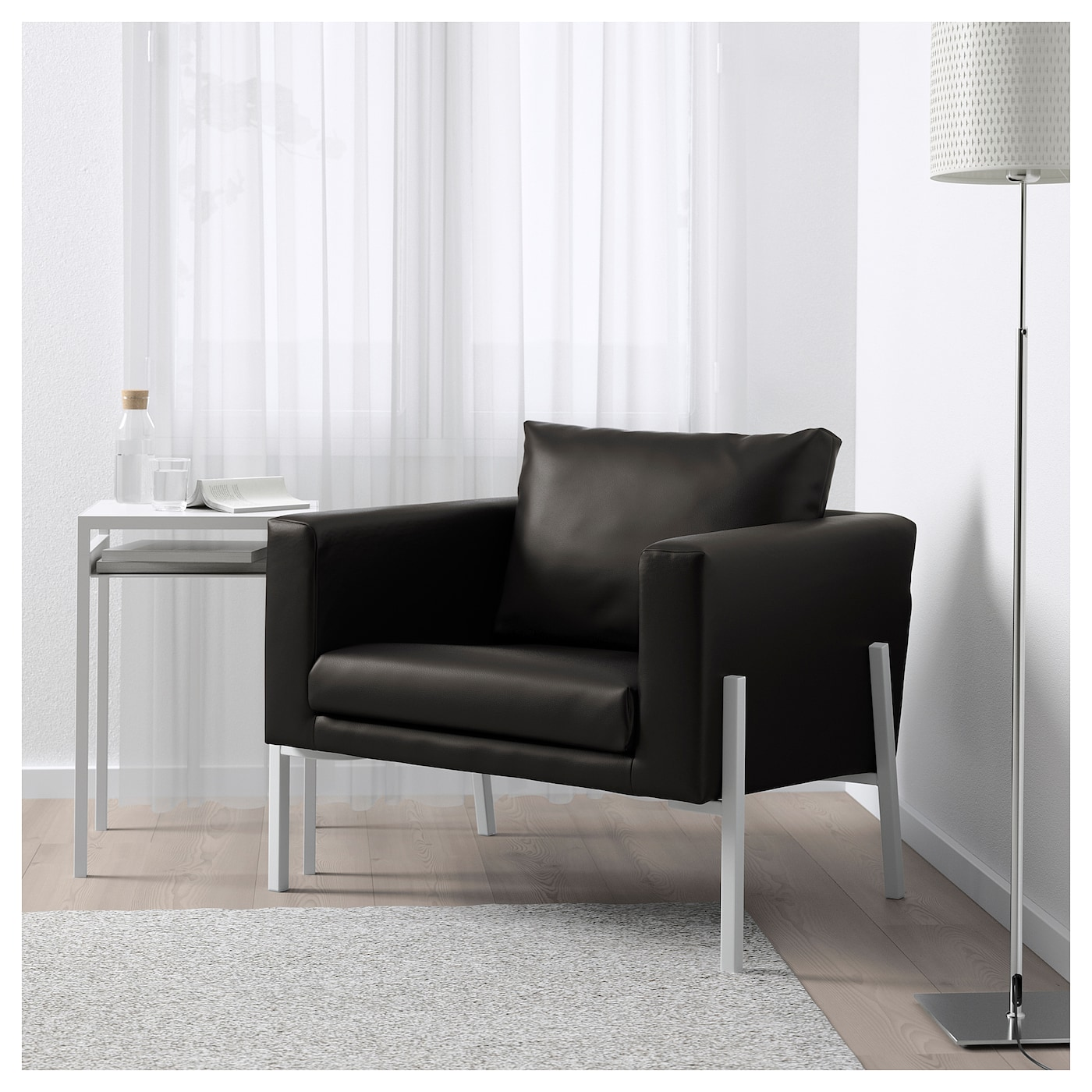 koarp fauteuil farsta noir blanc ikea. Black Bedroom Furniture Sets. Home Design Ideas