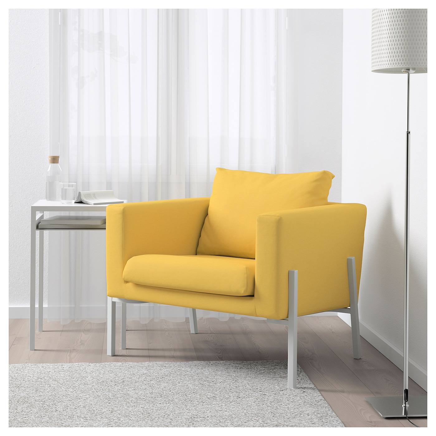 koarp fauteuil orrsta jaune dor blanc ikea. Black Bedroom Furniture Sets. Home Design Ideas