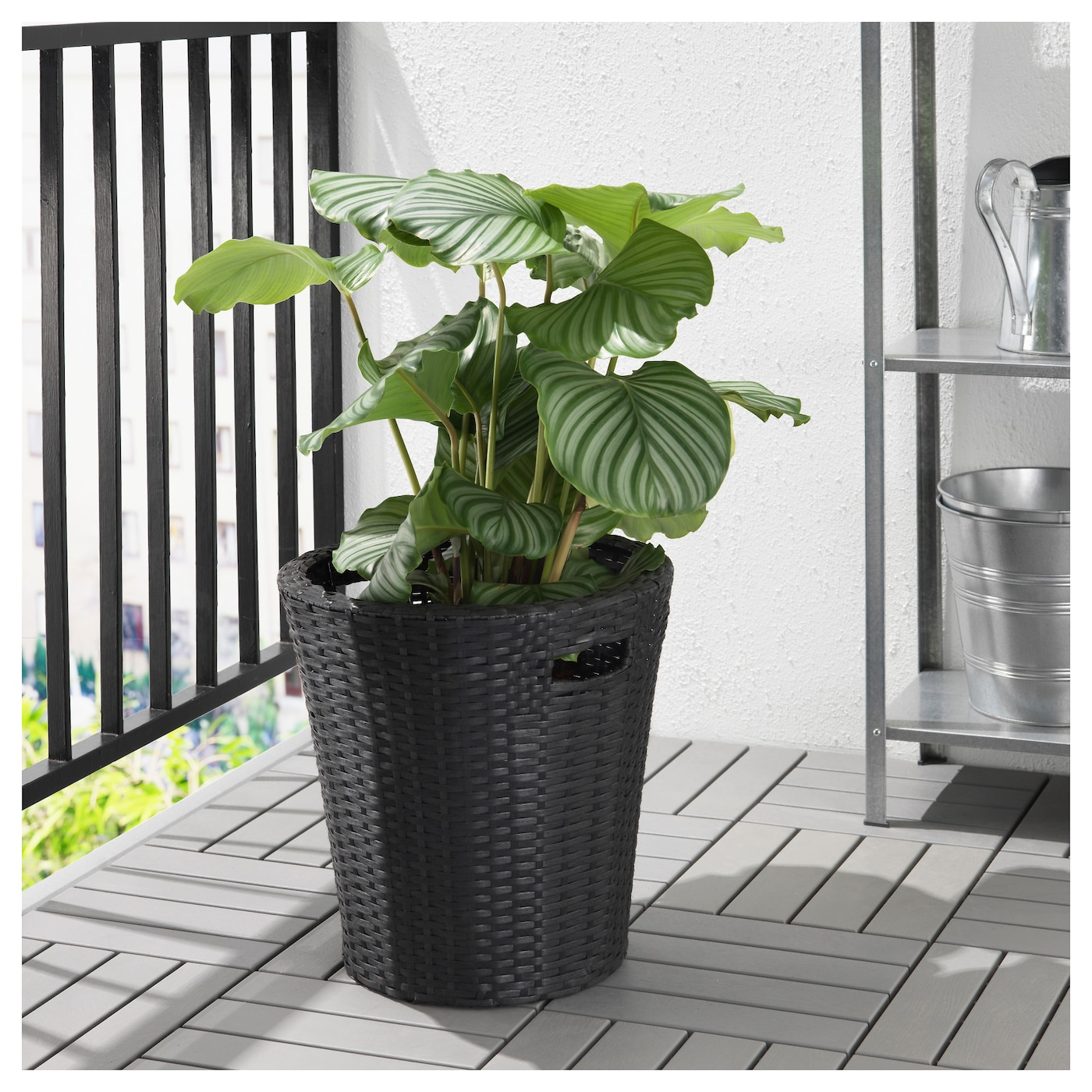 kokbanan cache pot int rieur ext rieur noir 32 cm ikea. Black Bedroom Furniture Sets. Home Design Ideas