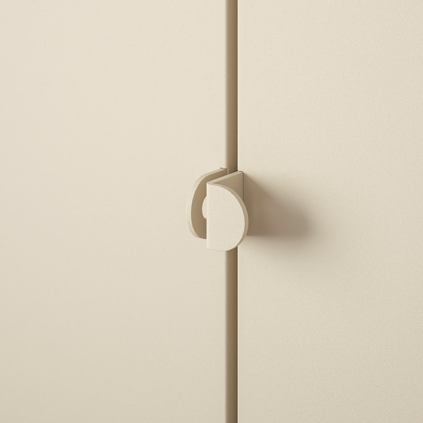 KOLBJÖRN Élément rangement int/extérieur, beige, 80x81 cm
