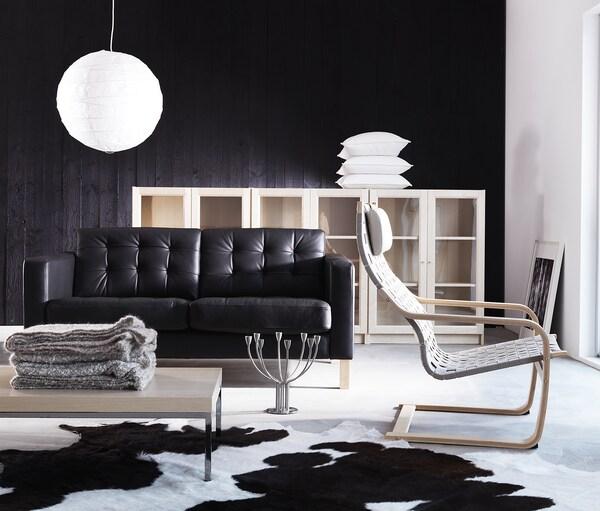 Koldby Peau De Vache Noir Blanc Noir Ikea