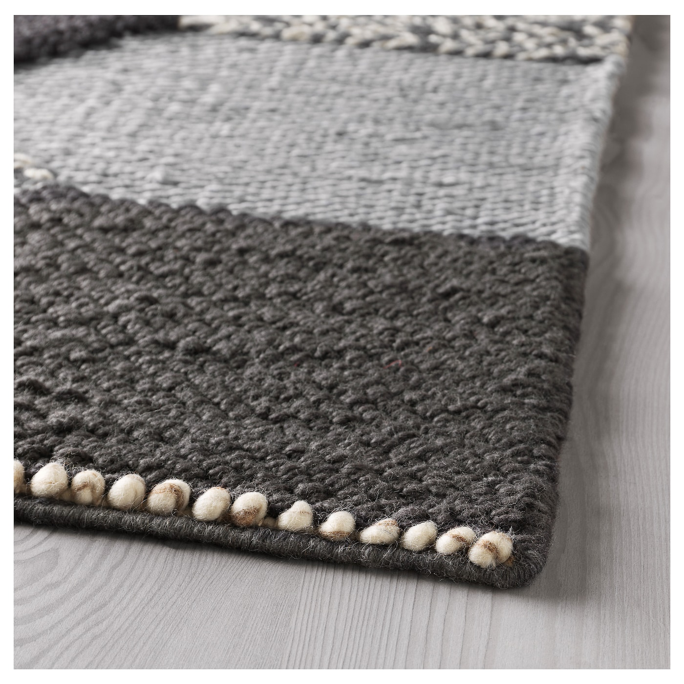 Kollund tapis tiss plat fait main gris 170x240 cm ikea for Ikea jeter des tapis