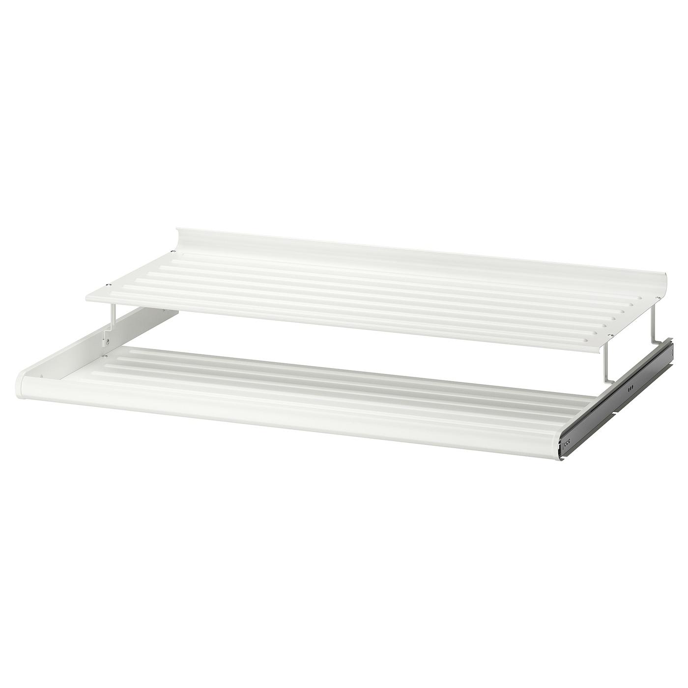 Komplement Etagere A Chaussures Coulissante Blanc 100 X 58 Cm Ikea