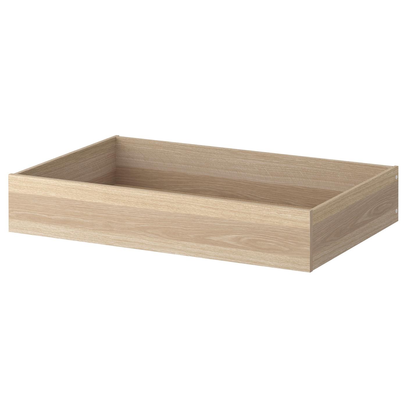 Komplement tiroir effet ch ne blanchi 100x58 cm ikea for Ikea chene blanchi
