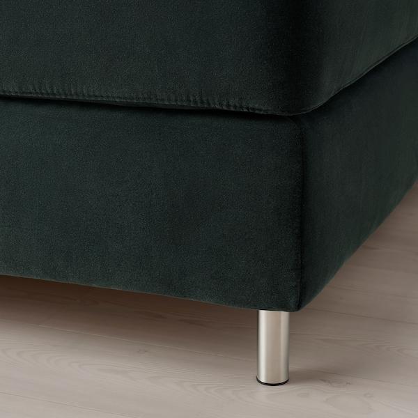 KONGSFJORD Lit/sommier, Hyllestad mi-ferme/Tustna Djuparp gris foncé, 180x200 cm