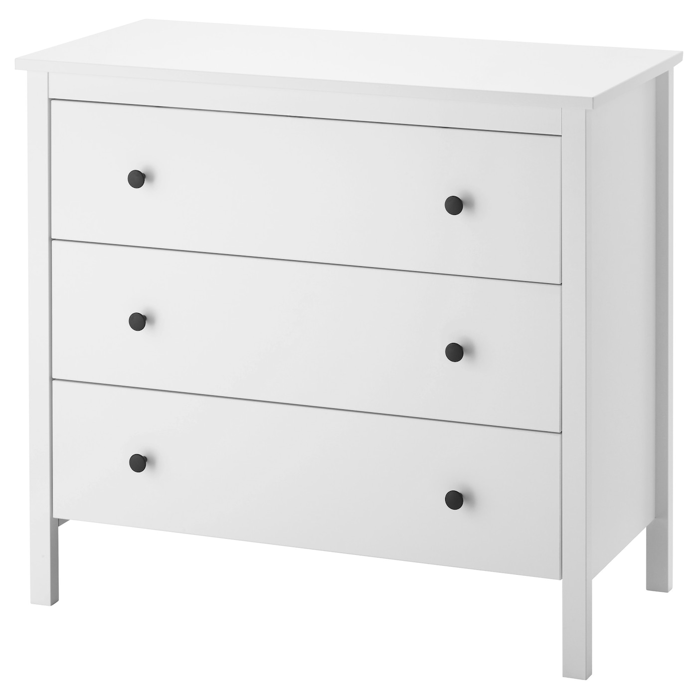 Koppang commode 3 tiroirs blanc 90x83 cm ikea for Ikea blanc commode