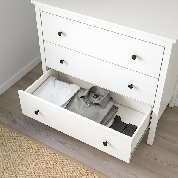 KOPPANG Commode 3 tiroirs, blanc, 90x83 cm