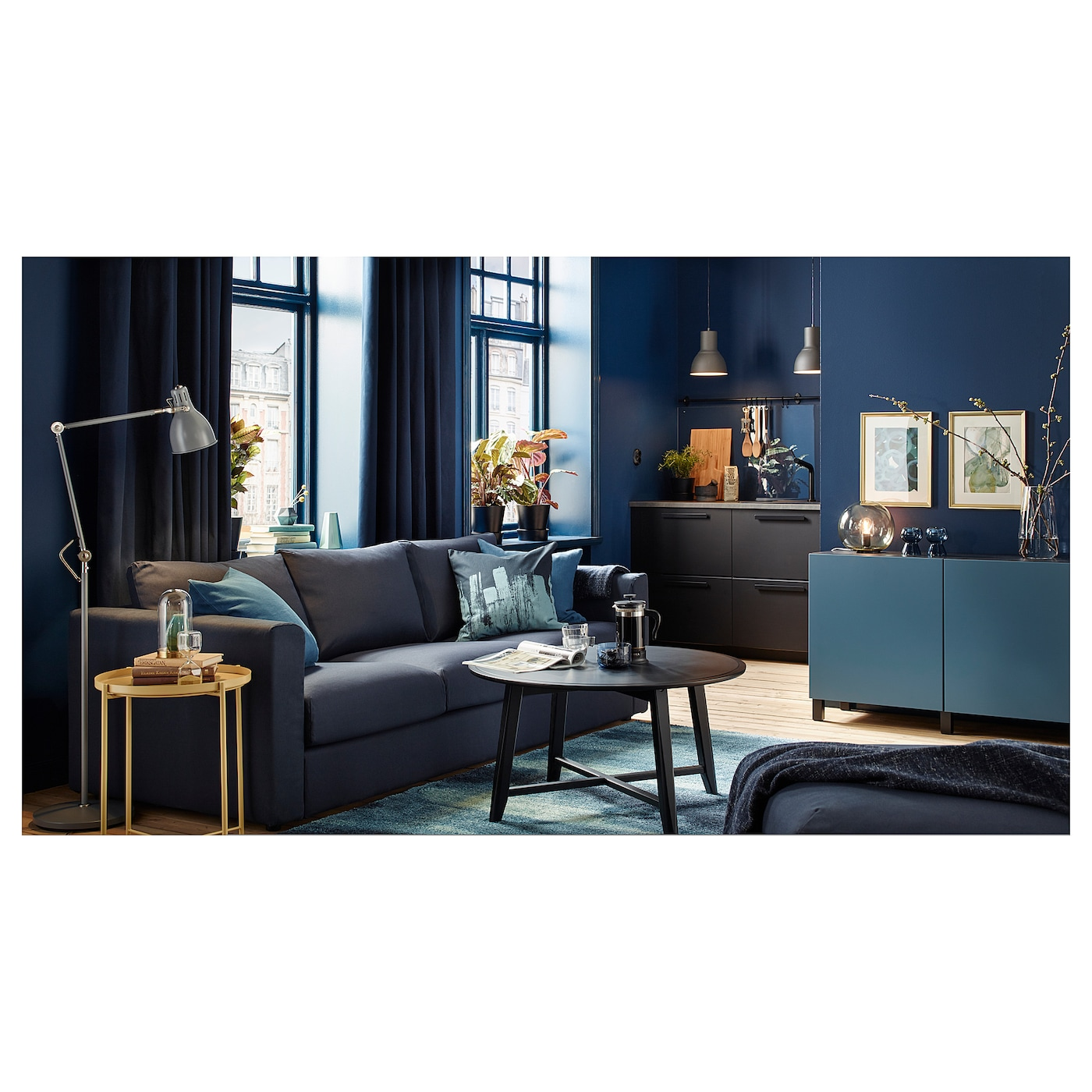 kragsta table basse noir 90 cm ikea. Black Bedroom Furniture Sets. Home Design Ideas